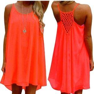 Women's Sundress Chiffon Sleeveless Tank Dress
